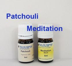 Patchouli 5ml  &  Meditation Blend 5ml