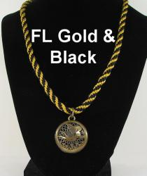 Fairy Locket Brass with Gold Braid necklace