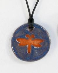 Dragonfly Glazed Pendants