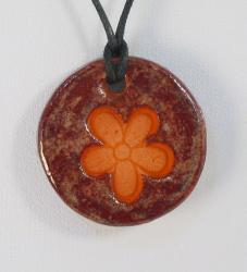 Little Flower Glazed Pendants