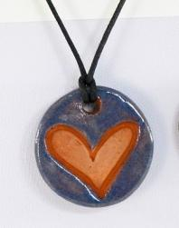 Large Heart Glazed Pendants