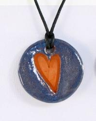 Small Heart Glazed Pendants