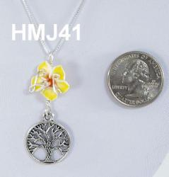 Silver Accented Flower with tree of life