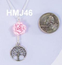 Light pink flower with tree of Life