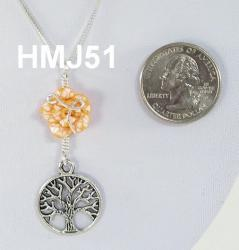 Small Yellow & White Flower and Silver Tree of Life
