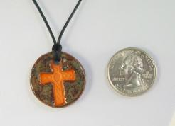Iron Cross Glazed Pendants