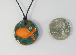 Seafoam Fish Glazed Pendants