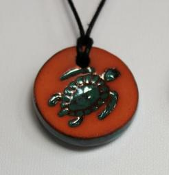 Sea Turtle Glazed Pendants