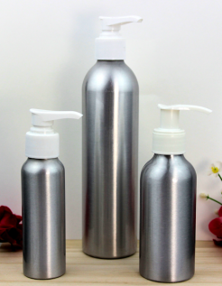 Aluminum Pump Top Bottles