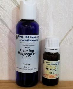 Calming Massage Blend & Relaxing Synergy Blend