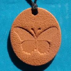 Butterfly Terra Cotta Pendant