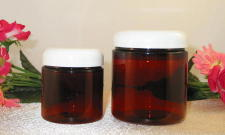 Amber Round PET Jars