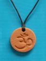 Om Terra Cotta pendant