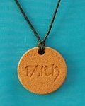 Faith Terra Cotta Pendant