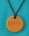 Peace Word Necklace Pendant